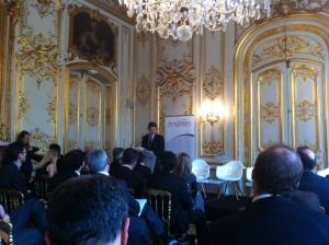 Arnaud Montebourg fait la cloture de la conférence.