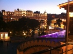 Baku's historic city by night