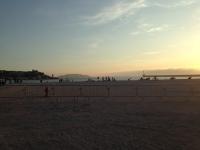 Sun setting in Marseille