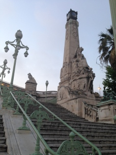 Grand staircase leading to St Charles train station