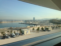 View from Villa Mediterlanée on the Port of Marseille