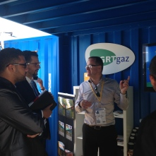 Said Bouabane visits the GRT Gaz stand