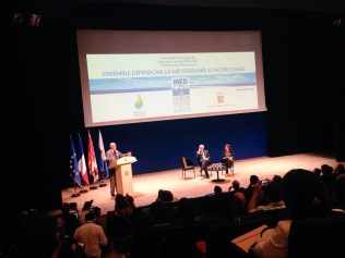 Closing ceremony with Président Vauzelle, Foreign Minister Fabius & Hakima El Haite